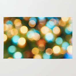 Abstract holiday Christmas background with blue and yellow Rug