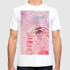 Love is in the Air Mens Fitted Tee White MEDIUM
