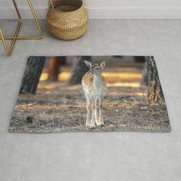 Tantalizing Cute Little Deer Bambi Forest Ultra HD Rug