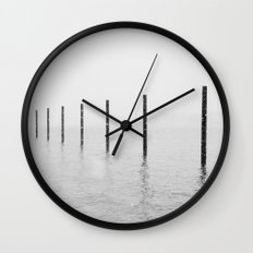 Pilings I Wall Clock
