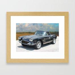 Vintage Chevrolet Corvette - On the Open Road Framed Art Print