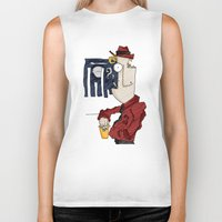 drink Biker Tanks featuring DRINK by Ivano Nazeri