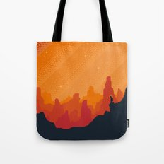 MARS Space Tourism Travel Poster Tote Bag