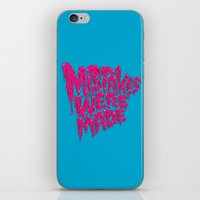 onesie iPhone & iPod Skins featuring Mistakes were made. by Chris Piascik
