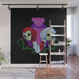 Snow White and Red Rose Wall Mural