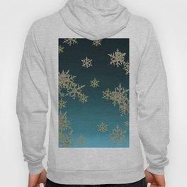 """MORE SNOW"" TEAL BLUE ART DESIGN Hoody"