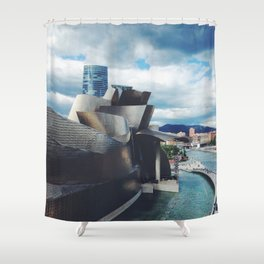 The Guggenheim Museum Bilboa (Frank Gehry Architecture) Shower Curtain