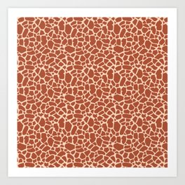 Giraffe Animal Print Pattern Art Print