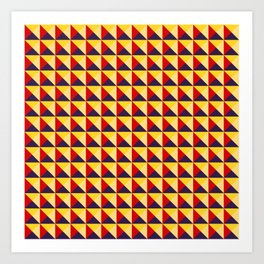 Abstract Triangle Pattern - Colorway #1 Art Print