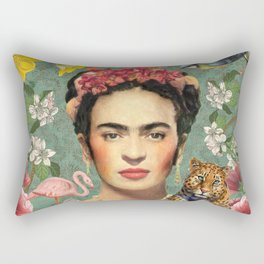 Frida Kahlo X Rectangular Pillow