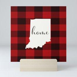 Indiana is Home - Buffalo Check Plaid Mini Art Print