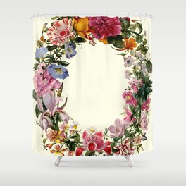 "Johannes van Bronckhorst ""A Wreath of Various Flowers"" Shower Curtain"