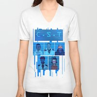 team fortress V-neck T-shirts featuring Team by Jessica Bradley