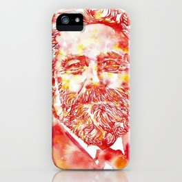 JULES VERNE - watercolor on paper iPhone Case
