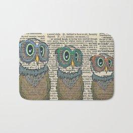 Owl wearing glasses Bath Mat