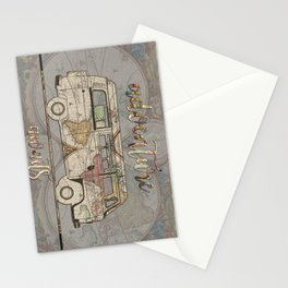 adventure awaits world map design 1 Stationery Cards