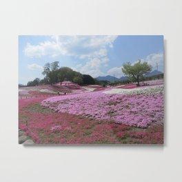 Flower Hills Japan Metal Print