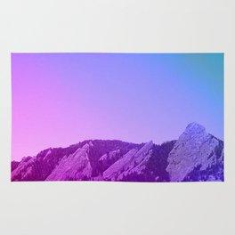 Boulder Colorado Flatirons Decor \\ Chautauqua Park Purple Pink Blue Green Nature Bohemian Style Art Rug