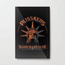 Snake Plissken's Search & Rescue Pty. Ltd. Metal Print