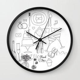 weeding doodle Wall Clock