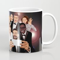 cartoons Mugs featuring Cute Celebrity Selfie Photo Cartoons iPhone 4 4s 5 5s 5c, ipod, ipad, pillow case and tshirt by Three Second