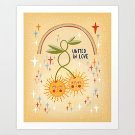 United in love Art Print