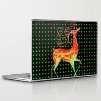 reindeer Laptop & iPad Skins featuring Reindeer by Saundra Myles