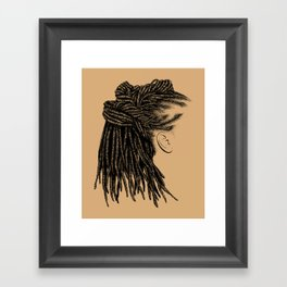 Crown: Wrapped Locs Framed Art Print