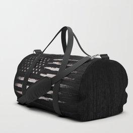American flag White Grunge Duffle Bag