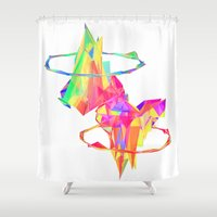 atlas Shower Curtains featuring ATLAS by DIZYGOTIK