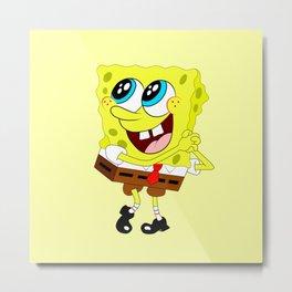 Spongebob Amazed Metal Print