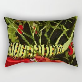 caterpillar on work! Rectangular Pillow