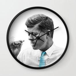 John F Kennedy Smoking Wall Clock