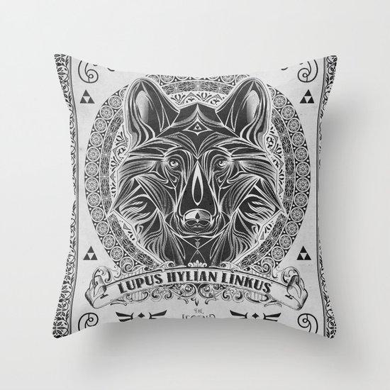 Legend of Zelda Twilight Wolf Link Line Art Throw Pillow