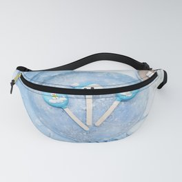 A Cozy Winter Scene (Snow, Hot Chocolate) Fanny Pack