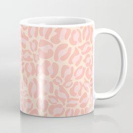 Leopard Print | Pastel Pink Girly Bedroom Cute | Cheetah texture pattern Coffee Mug
