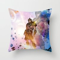 hercules Throw Pillows featuring Hercules by nicky2342