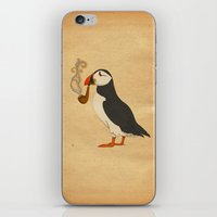 puffin iPhone & iPod Skins featuring Puffin' by Megs stuff
