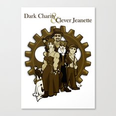 Dark Charity & Clever Jeanette Canvas Print