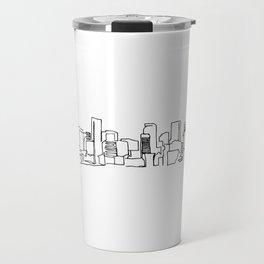 Denver Skyline Drawing Travel Mug