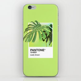 PANTONE SERIES – LEAFY GREEN iPhone Skin