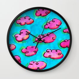 Red Sky in Morning Wall Clock