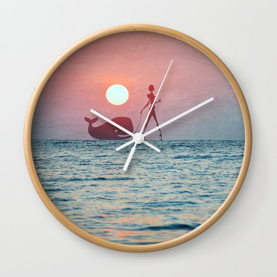 Whale Walk Wall Clock