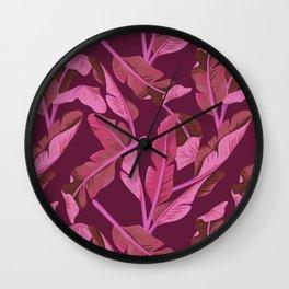 Tropical '17 - Ajaja [Banana Leaves] Wall Clock