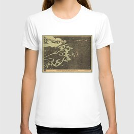 Vintage Map of The Puget Sound (1891) 2 T-shirt