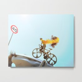 Yellow Jersey Metal Print