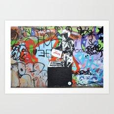 Imker graffiti Art Print