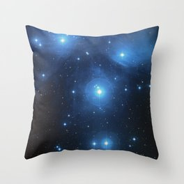 Seven Sisters Star Cluster Pleiades Messier 45 Throw Pillow