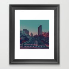 Pop city. Framed Art Print