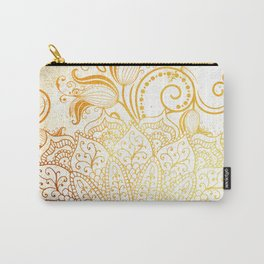 Mandala - Golden brush Carry-All Pouch
